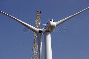Installation of the first wind mills in Beauce France