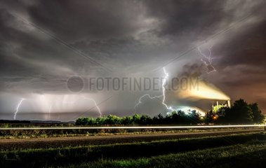 Storm above a food factory - France