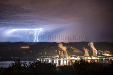 Nuclear power and storm along the Rhone - France