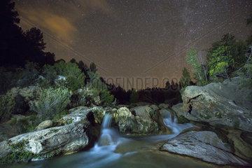 Hoces del Cabriel Natural Park at night  Spain