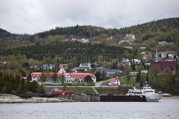 Tadoussac seen the St. Lawrence River Quebec Canada