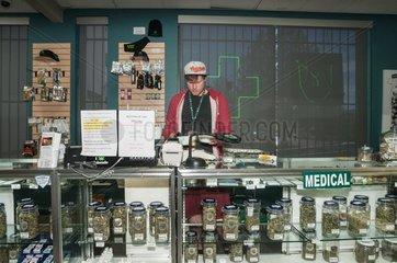 Medical marijuana dispensary. Denver  CO  USA