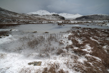 Snowy mountains of the Isle of Harris - Hebrides