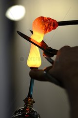 Manufacture of a stemmed glass - France