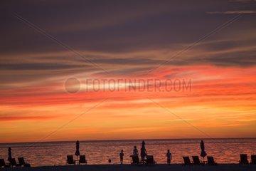 Sunset on a beach - Sabah Malaysia