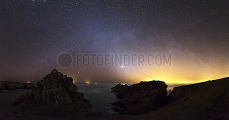 Zodiacal light on the island of Houat - Brittany France