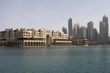 Souk Al Bahar and Dubai Mall basin - United Arab Emirates