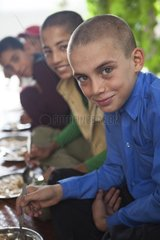 Meal served by the center for street children - Afghanistan