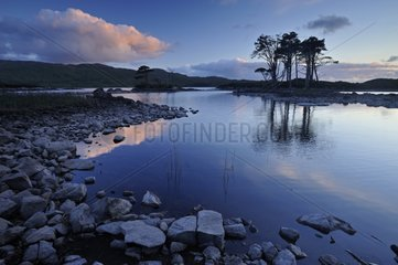 Loch Shin at twilight Scotland