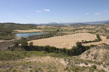 Paysage de la vallée d'Echo dans les pyrénées espagnoles