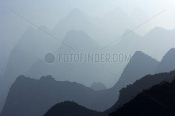 Limestone plateau of Dong Van Geopark - Vietnam