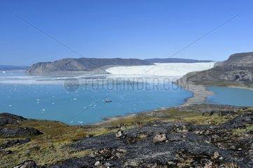 Denmark. Greenland. West coast. The Quervain's bay with the glaciar Eqip Sermia.