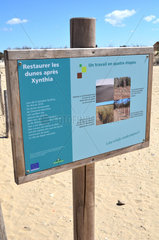 Pannel Restauration of the dunes - Island of Oleron France