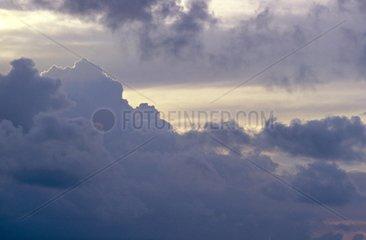 Cumulus and altostratus masking the sun France