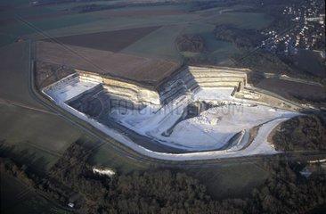 Gypsum career in Précy-sur-Oise Picardy France