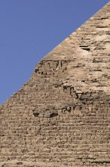 Top of the Khafre's Pyramid in Giza Egypt