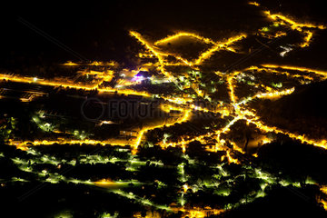 Light pollution in the Bugey - France