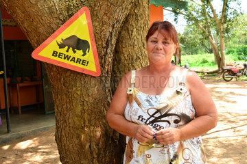 Woman in charge of Rhino reintroduction program - Uganda
