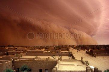 Tempête de sable sur la ville de Gao Mali