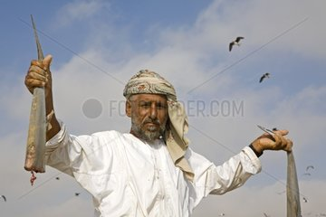 Fisherman Pitchards and pieces of shark Sultanate of Oman