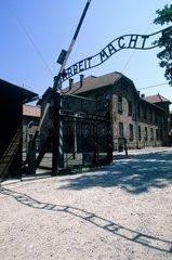 L'entrée d'Auschwitz-Birkenau