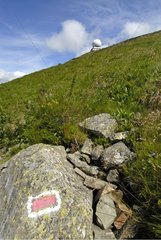 Tagging GR5 of a hiking trail France