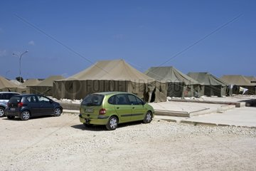 African refugees camp Malta