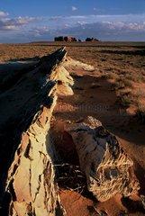 Arête rocheuse dans le désert de l'Utah