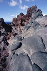 Different lava flows on the island of El Hierro Canary