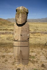 Totem of a divinity in a desert zone Bolivia