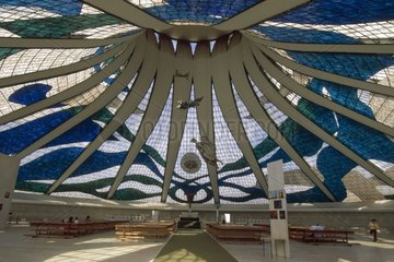 Interior of the Cathedral Brasilia Distrito Federal Brazil