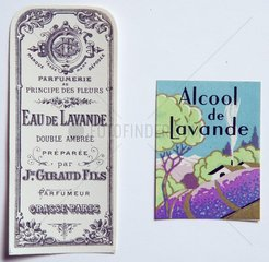 Label lavender water of the beginning of the XXe century