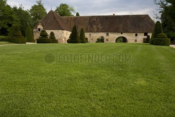 Dependence in the garden of the Cormatin castle France