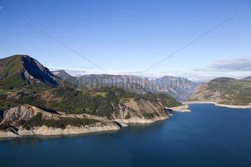 Serre Poncon lake Alpes France