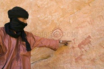 Cave paintings Area deTimrass Tassili N'ajjer Algeria