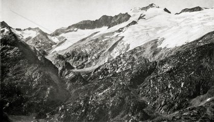Glacier of Aneto in 1876 Pyrenees Spain