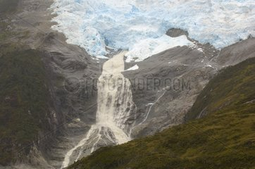 Melting Glacier Beagle Channel Tierra del Fuego Patagonia Chile