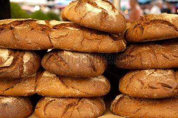 Pains de campagne traditionnel Marché de Beaune en Côte-d'Or