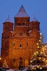 Abbey church of Marmoutier on the Romance Road of Alsace