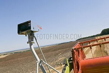 GPS on a new combine harvester France