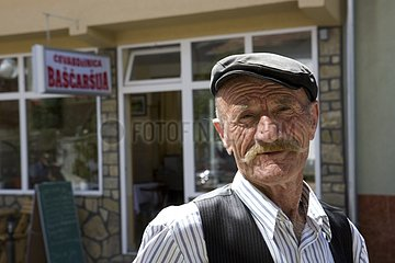 Portrait of a man in a veil of Street Rosaje Montenegro