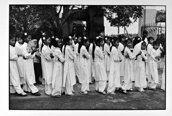 Procession Catholic Ninh Binh day of Pentecost Vietnam