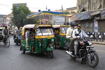 Traffic in the city Uttar Pradesh India