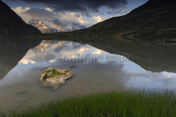Goléon Lake and Massif de la Meige Ecrins France