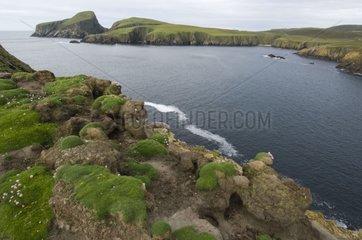 Landscape of Fair isle Shetland Scotland