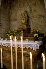 Altar and Madonna and Child Tournus Abbey Bourgogne