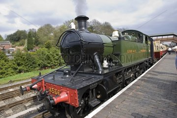 Great Western steam train at Bewdley station Worcestershire