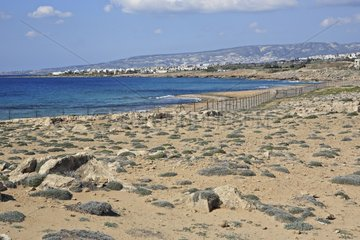Barrier protecting the archaeological site of Paphos Cyprus