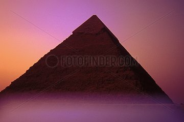 Pyramid of Giza at sunset Cairo Egypt