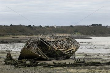 Wrecks in the cemetery of boats Le Fret Finistère